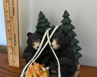 Plastic Two Bears with Campfire $8.00