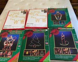 6 Light Up Holiday for Christmas $30.00 for all