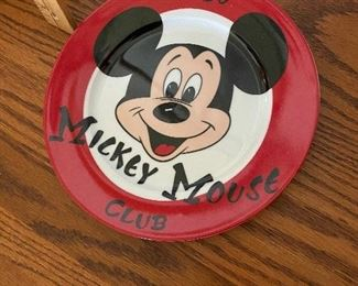 Mickey Mouse Club Plate $6.00