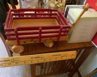Wood Doll/Bear Wagon $10.00