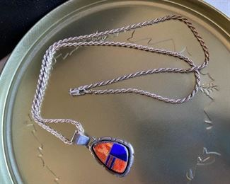 Sterling Necklace and Pendant $40.00