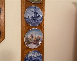 4 Plates with Wall Holder $45.00