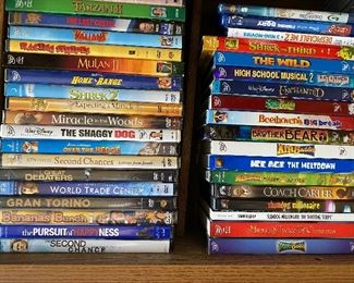 All DVD's Shown $25.00