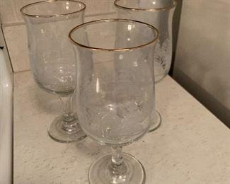 3 Glass Set $3.00