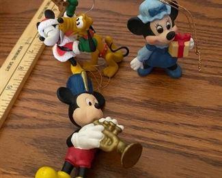 3 Disney Ornmanets $6.00