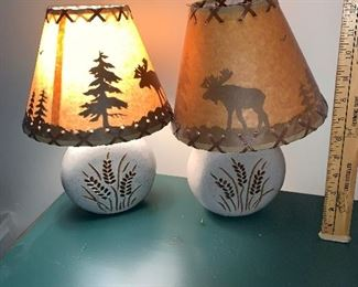2 Moose Lamps $40.00 for the pair.