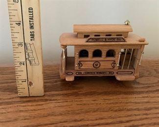 Wood Music Box Train $9.00