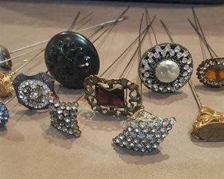 Just a few of many hatpins!