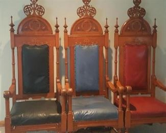 Impressive chairs from a church