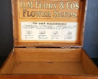 Old advertising seed box