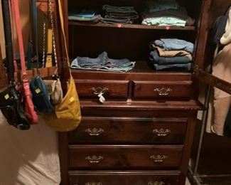 Women's/girls clothing, shoes, handbags.  Dresser.