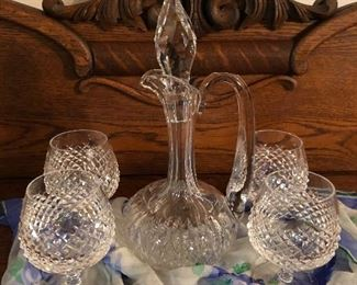 WaterfordDecanter w/4 goblets