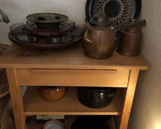 Kitchen cart Pottery Copper