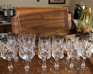 Very Old Beautiful Crystal stemware sets