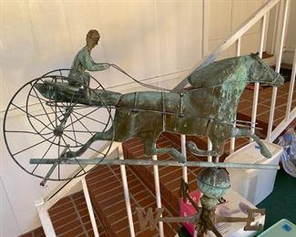 Antique copper weathervane