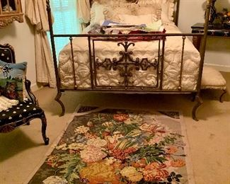 Handcrafted rugs Antique French Brass bed