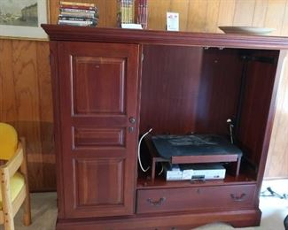 entertainment center and stereo  equipment