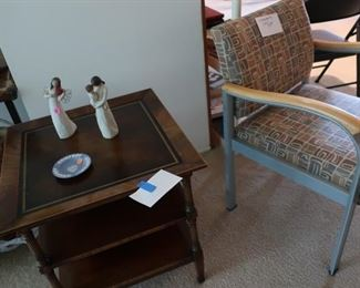 mahogany table  and   Chester  l  Henry  Co pattern  chair