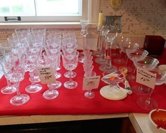 stemware and  other  glassware