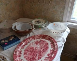 vintage pyrex,platter