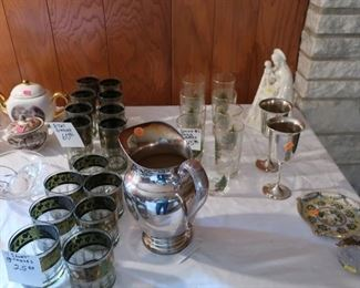 Mid  century  glassware, spode  glasses