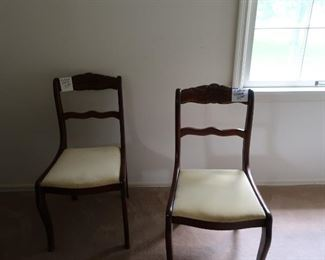two  vintage  chairs  with rose medillon