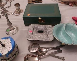 candlelabra, jewelry box,  usa  candy  dish