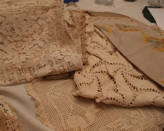 crocheted  linens