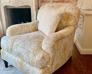 $699 pair tight back quilted English arm chair