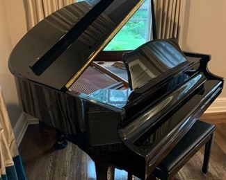 """13. Wm. Knabe & Co. Black Lacquer Baby Grand Piano (57"""") IKMBG0206"""