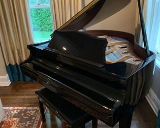 "13. Wm. Knabe & Co. Black Lacquer Baby Grand Piano (57"") IKMBG0206"