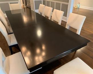 "17. Ebony Plantation Dining Table w/ 2-18"" Leaves (96"" x 42"" x 30"")"