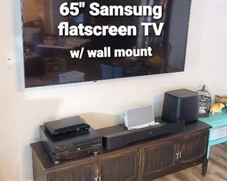 "65"" Samsung Flatscreen TV with wall mount"