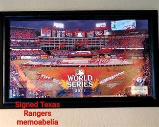 Signed Texas Rangers Memorabilia