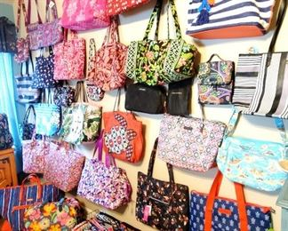100's of VERA BRADLEY Purses, backpacks, wallets, etc. Most are NEW WITH TAGS