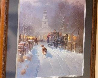 Framed G Harvey print