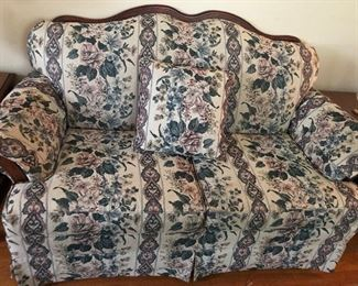 Loveseat matches couch