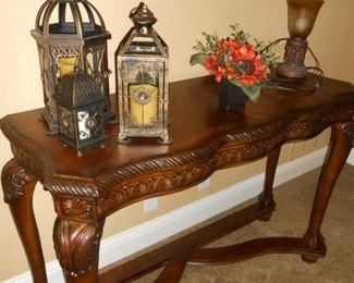 Beautiful sofa table or entrance table