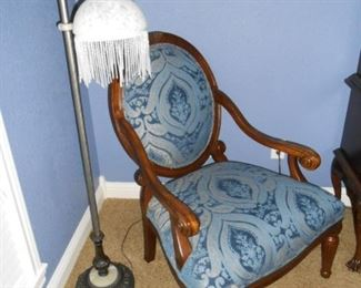 Pretty chair and lamp