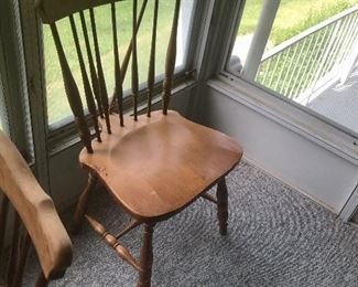 """Chairs to drop""""leaf table"""