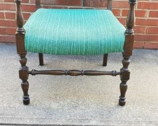 Accent Chair Vintage Webbed Upholstered