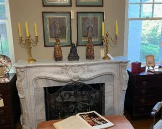 19th Century Hand-carved Mantel