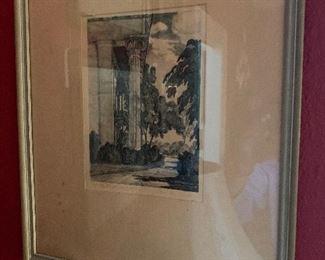 Stone lithograph by Alabamian Doris Alexander Thompson