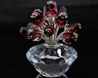 Swarovski flower