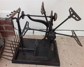 Antique Industrial Textile Yarn Winder.  Brown & Sharpe MFG Co.  Providence, RI