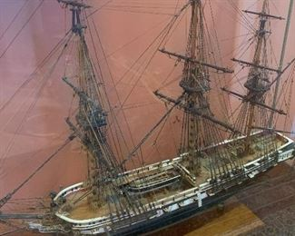 Foyer US Frigate Essex 32 Guns 1799 Ship Model