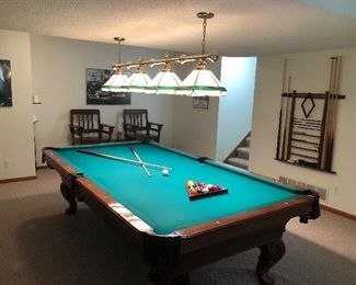 Olhausen 9' Pool Table with Rack and Cues