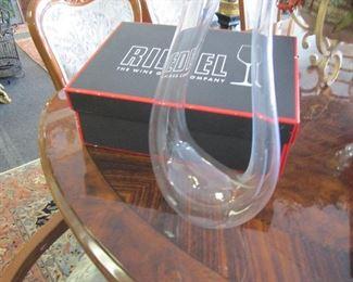 Riedel crystal decanter