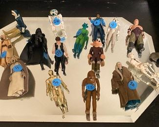 Star-wars figures  Blue dots are eBay prices