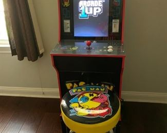 arcade1up Pac-man with riser and stool